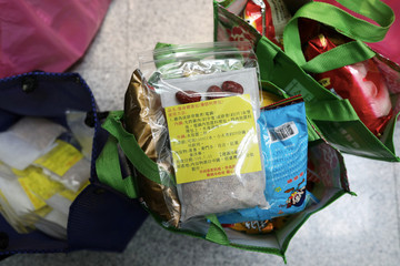 Traditional Chinese medicine is seen included in care packages to be delivered by the Taoyuan health department to people who have been ordered to be under self-quarantine, in Taoyuan, Taiwan