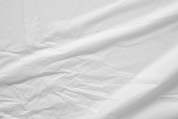 White plastic bag background texture close up