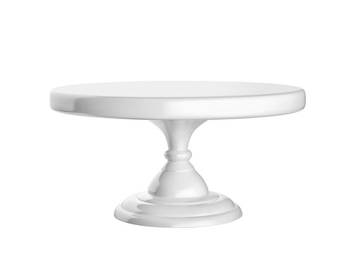 Porcelain cake stand isolated on white background