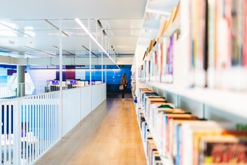 Library Book Shelf Aisle