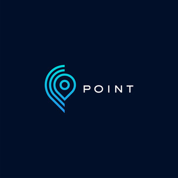 Point, location, gps logo design vector template