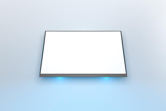 3D Rendering of Flat Screen TV Indoor