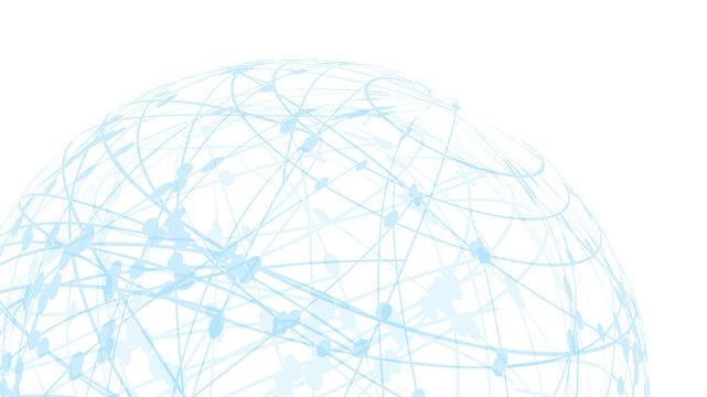 5GネットワークサイバーコミュニケーションITイメージ背景