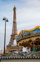 View on the famous paris eiffel tower .
