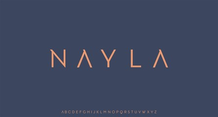 nayla, luxury modern font alphabetical vector set