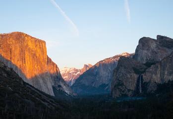 Keuken foto achterwand Grijze traf. Yosemite National Park Sunset