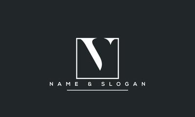 Initial v ,vv  Letter Logo Design