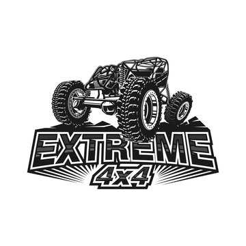 Offroad car logo tubular extreme 4x4 vehicle rock bouncher.