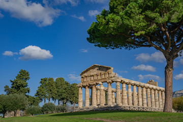 Tuinposter Athene Temple of Athena in Paestum Italy