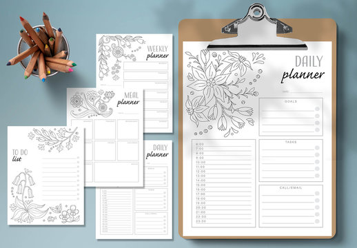 Coloring Planner Layout