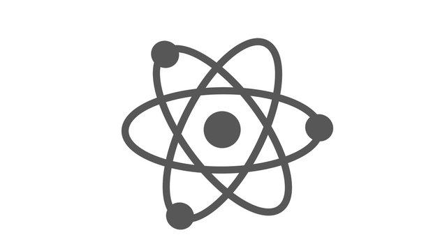 Amazing atom icon on white background,Atom icon,New atom icon