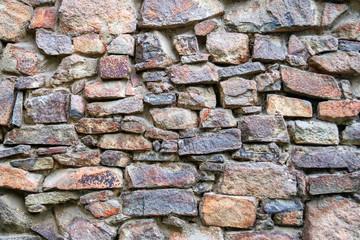 stone wall texture. example of ancient masonry