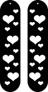 alongated heart Patern Earrings templated svg vector for cricut and silhouette jewelry learther template