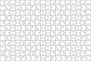 Puzzle transparent template. Vector illustration