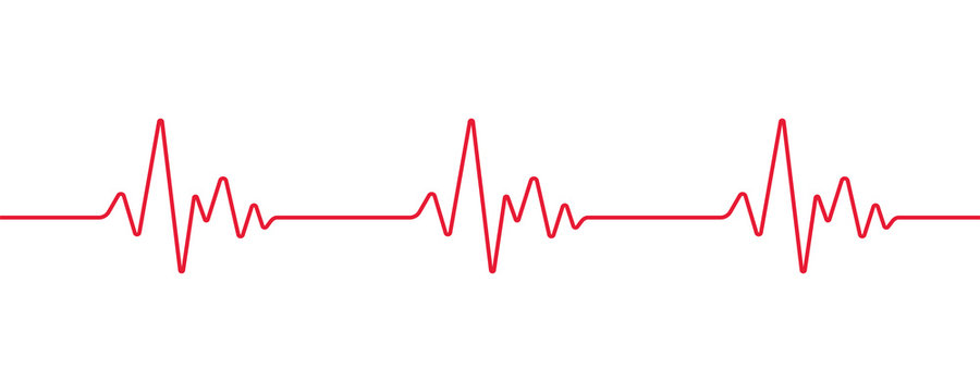 Heartbeat line, Pulse trace, ECG or EKG Cardio graph symbol for Healthy and Medical Analysis