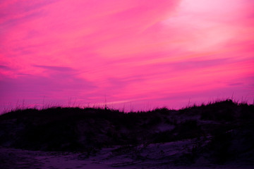 Poster Candy pink sand dunes in the sunset