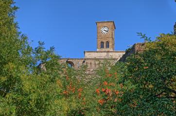 Old Gjirokaster clock tower UNESCO World Heritage in Albania