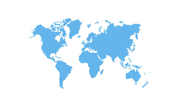 map of the world isolated on transparent background