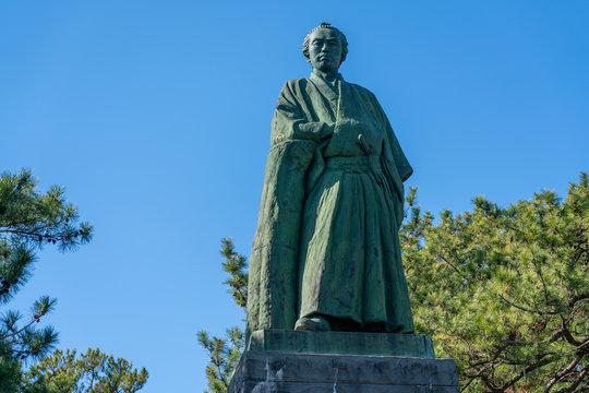 高知、桂浜にある坂本龍馬像