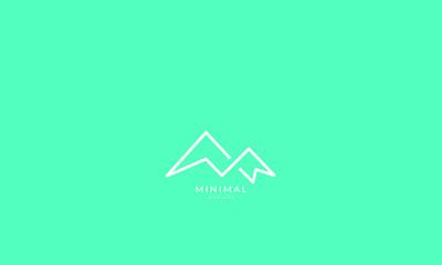 A line art icon logo of a mountain  Wall mural