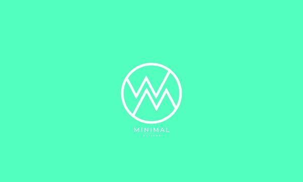 Alphabet letter icon logo WM