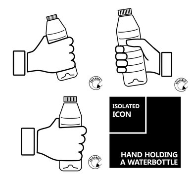 Icon HAND HOLDING A WATERBOTTLE