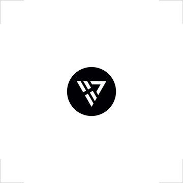 initial V A letter logo arrow design