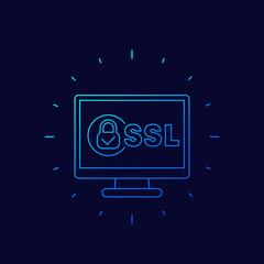 ssl secure line icon for web
