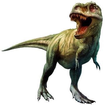 Tyrannosaurus rex dinosaur from the Cretaceous era 3D illustration