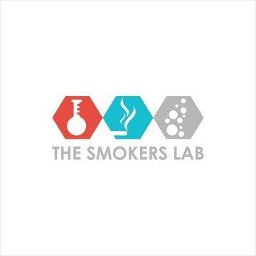 lab end smokers vector logo graphic modern