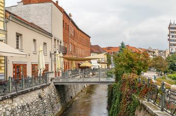 Wall Mural - Szinva river in Miskolc, Hungary