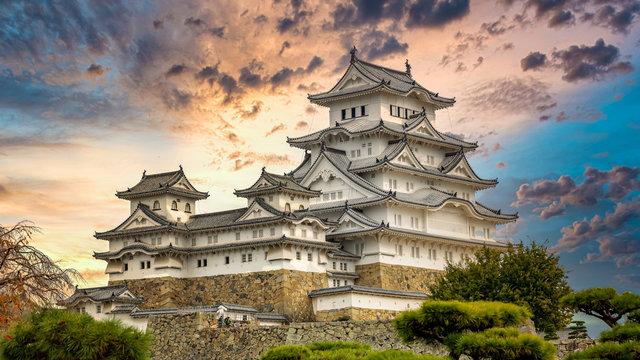 Himeji Castle white heron castle, Unesco World Heritage Site Himeji castle, An elegant and impregnable samurai fortress, Hyogo prefecture, Japan.