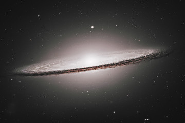 Acrylic Prints Universe Sombrero Galaxy M104 in constellation Virgo..Elements of this image are furnished by NASA.