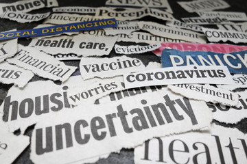 Corona Virus newspaper headlines
