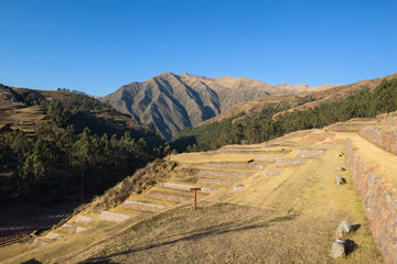 The rustic town of Chinchero in the Sacred Valley near Cusco, Peru