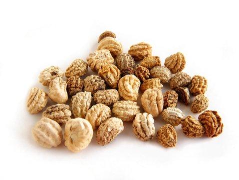 dried seeds of nasturtium close up