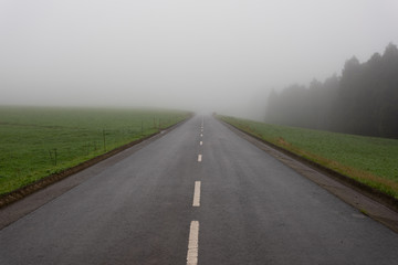 A road leading to Seven Cities (Sete Cidades)