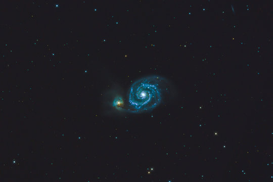 M51 The Whirlpool galaxy , (20 x 5 minute image stack) Cornwall, UK