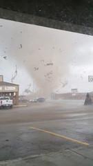 A tornado wrecking havoc in Jonesboro, Arkansas