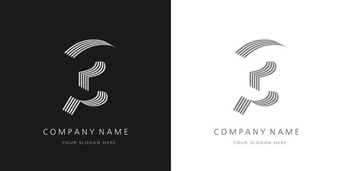 3 logo number modern design