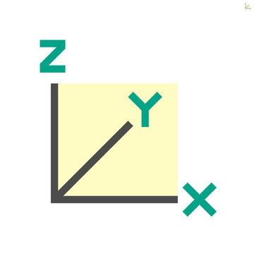 xyz axis for graph statistics display vector icon design.