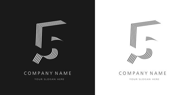 5 logo number modern design