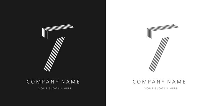7 logo number modern design