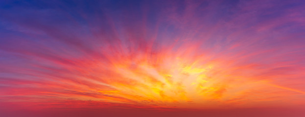 Printed roller blinds Brick Panoramic picture of sky twilight and clouds nature background