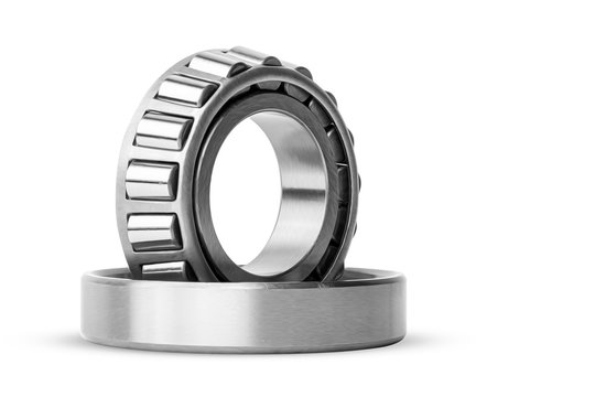 Roller bearing on white background isolated.  Part of the car