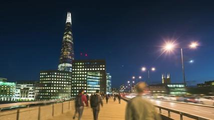 Fotomurales - hyper lapse of sunset, skyline from London Bridge, UK
