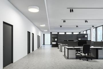 Modern white open space office interior