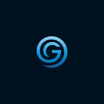 initial letter G logo design template