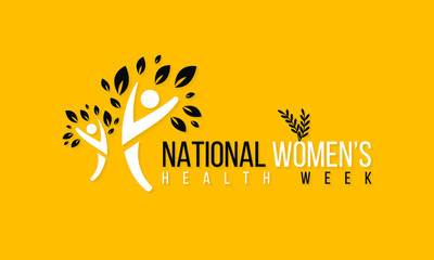 Vector illustration on the theme of National Women's health week begins on Mother's Day each year.