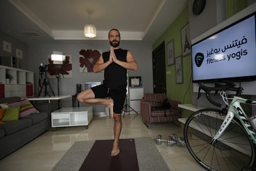Jordanian athletes stay active during lockdown